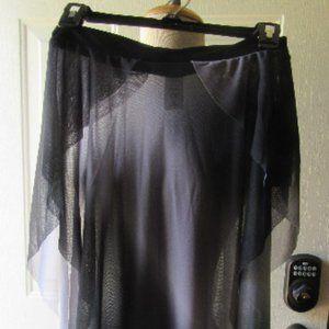 NWT Contemporary Ombre Asymmetrical dance skirt M